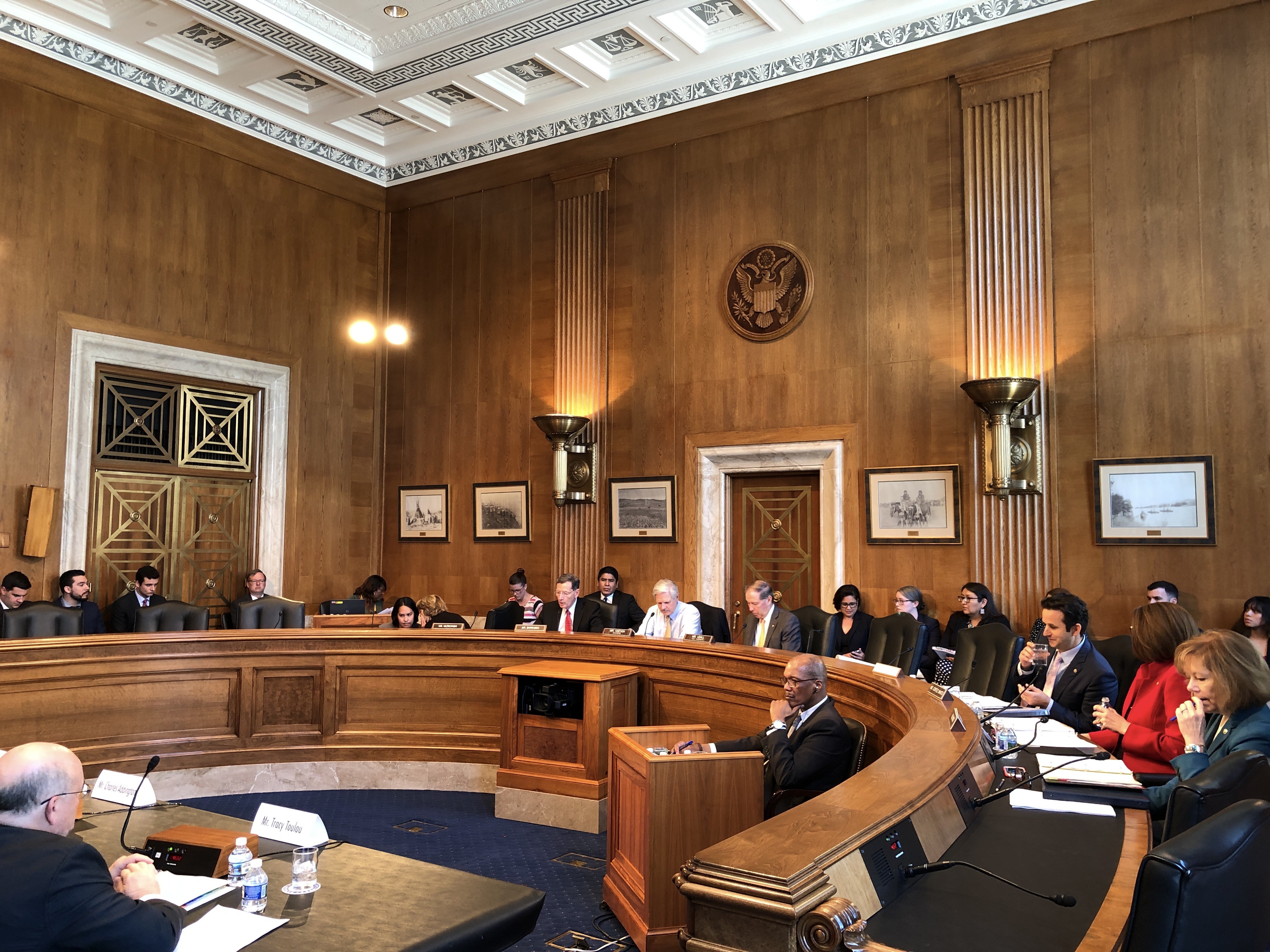 Senate Committee on Indian Affairs approves two bills at business meeting
