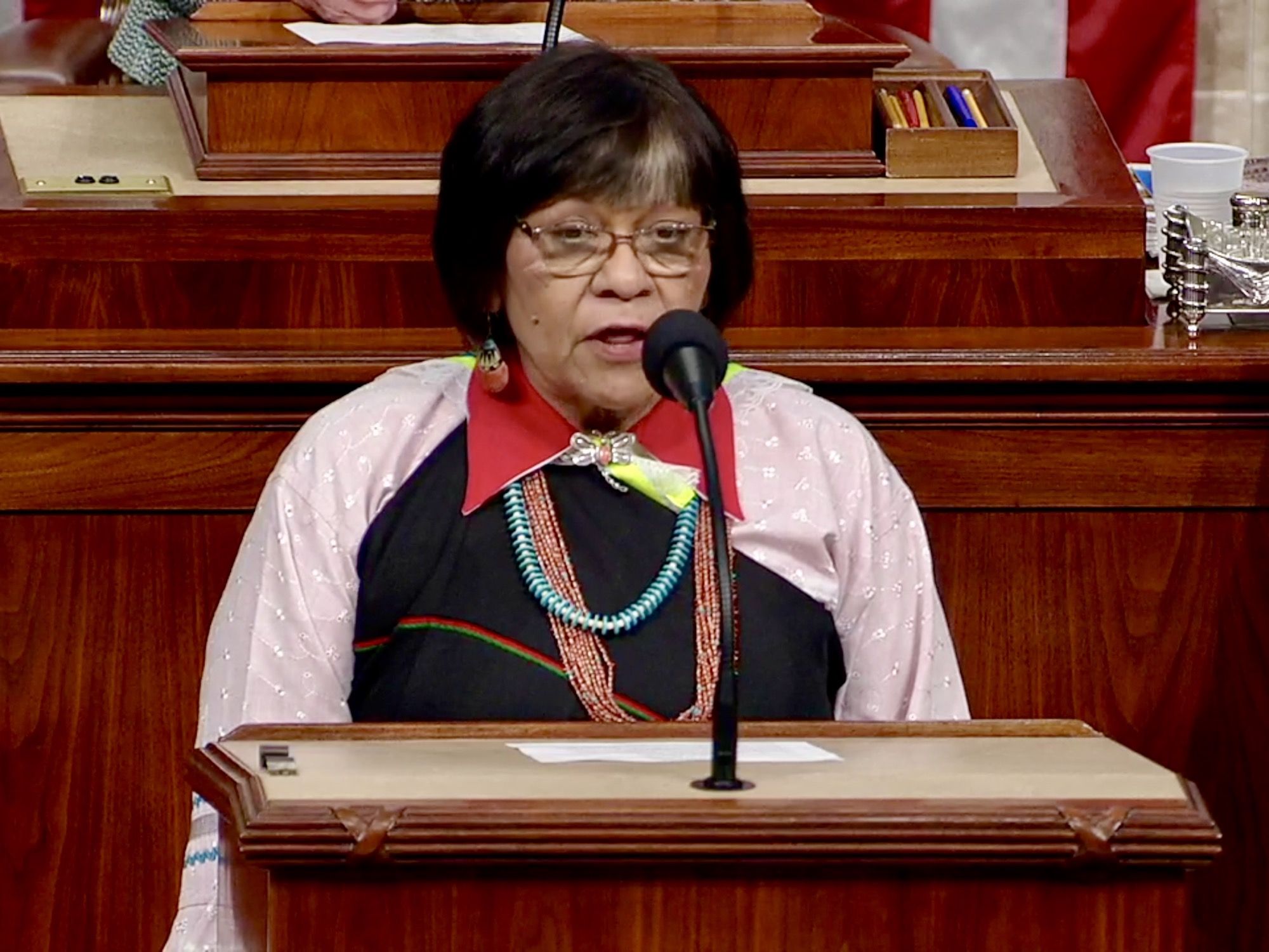Trailblazing Pueblo woman leader delivers opening prayer in Congress