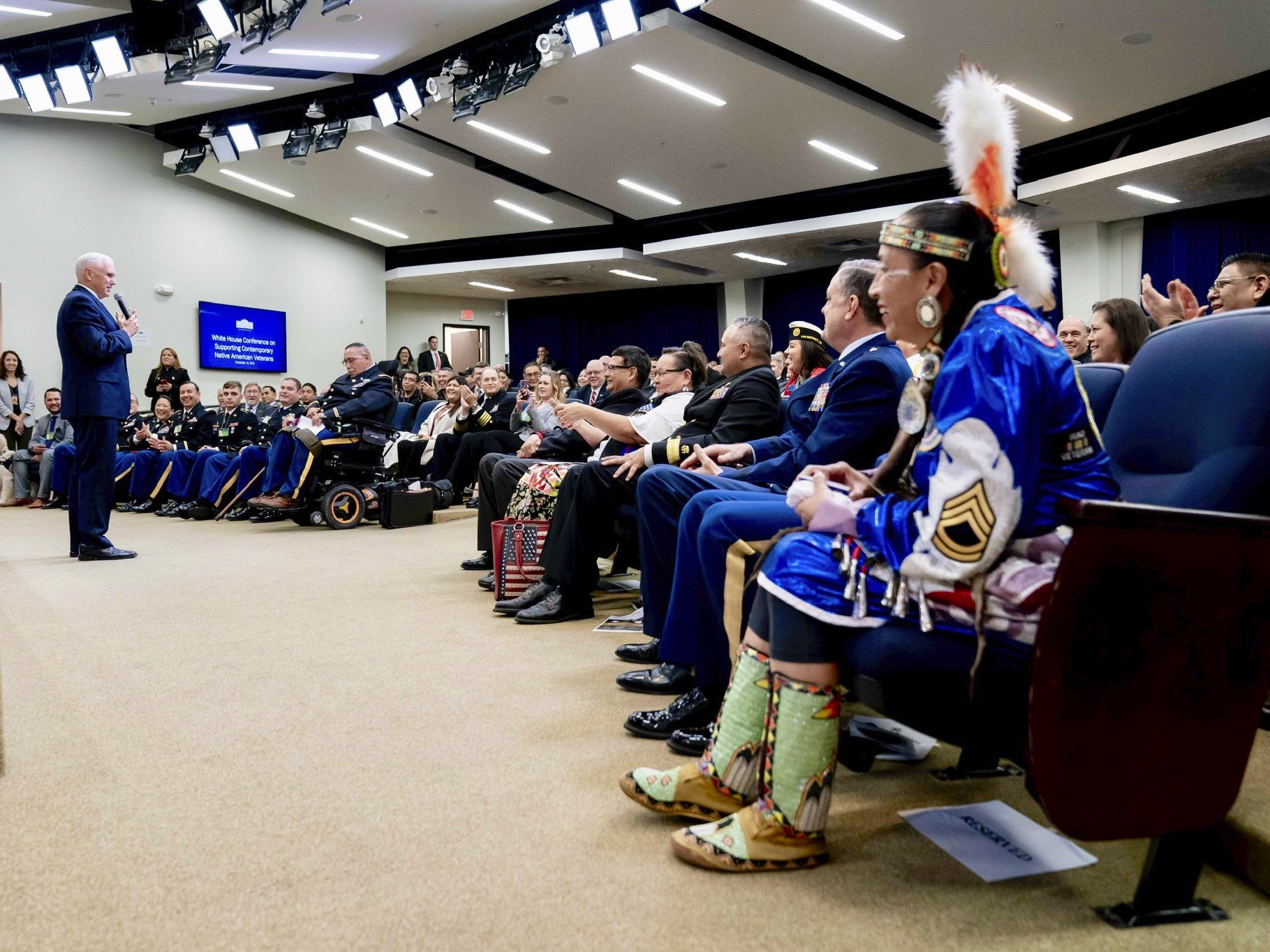 Native veterans head to Capitol Hill after event at White House