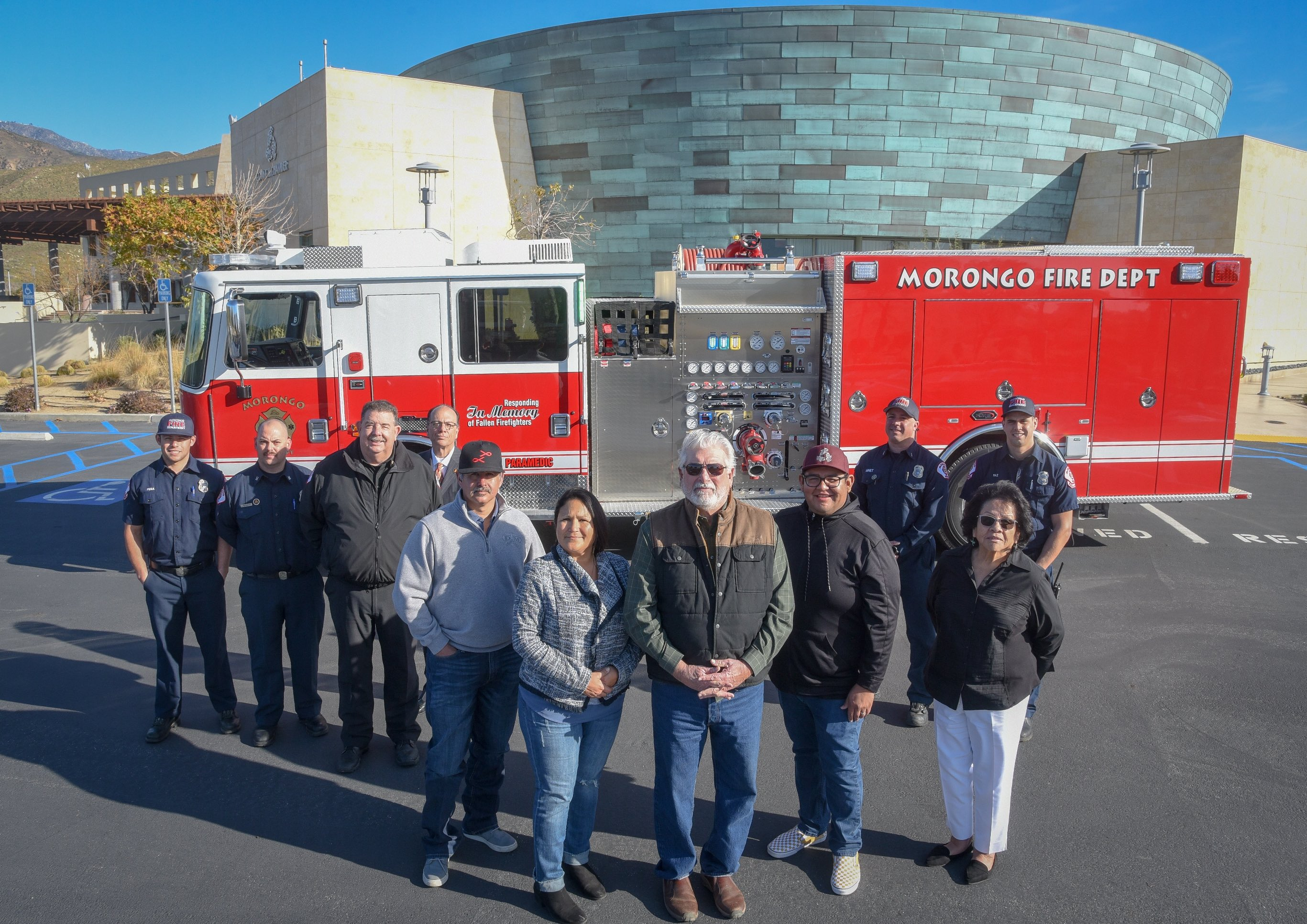 Morongo Band brings custom fire engine to the community