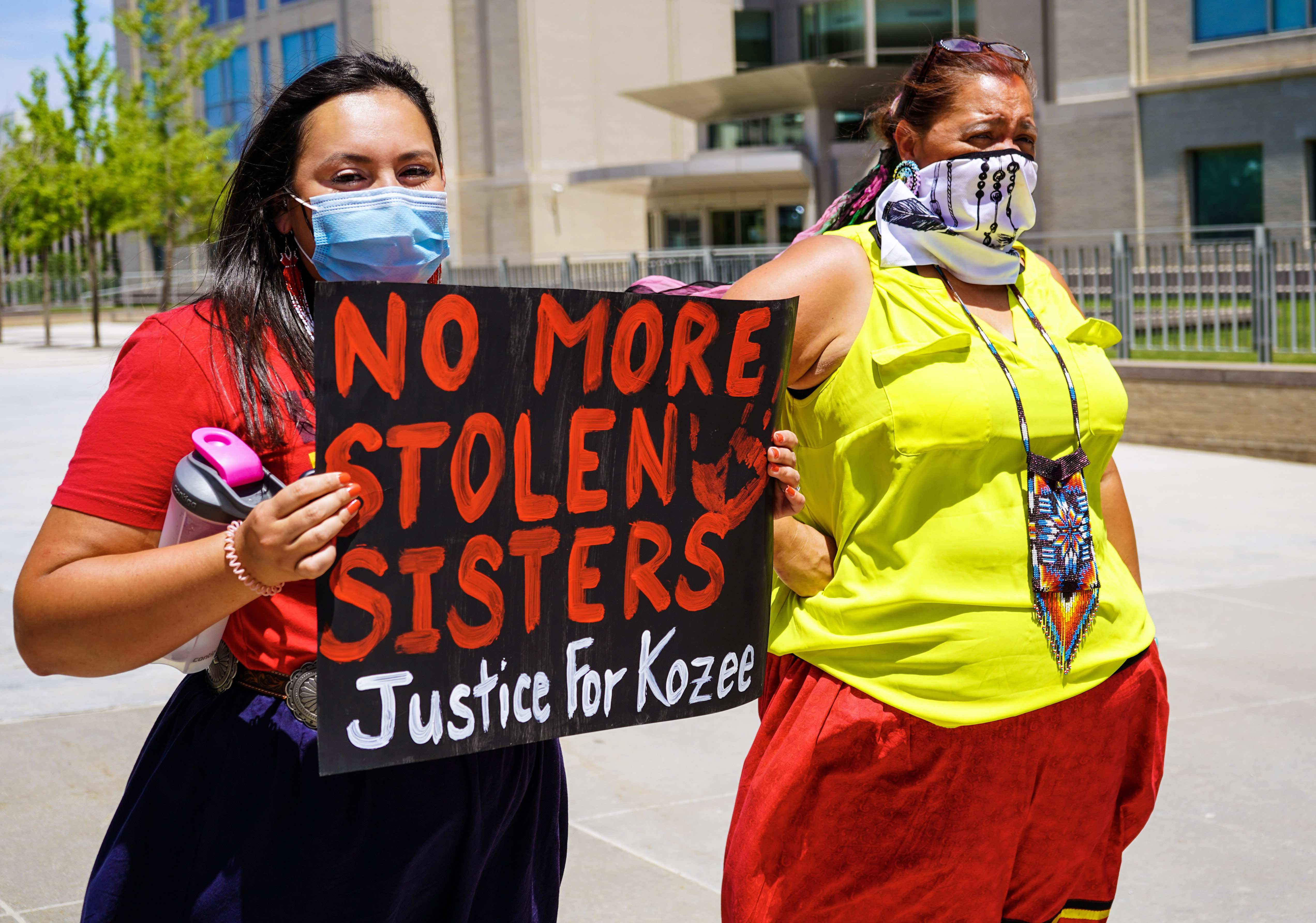 'Justice for Kozee!': Native women seek stronger charges for death of Kozee Decorah