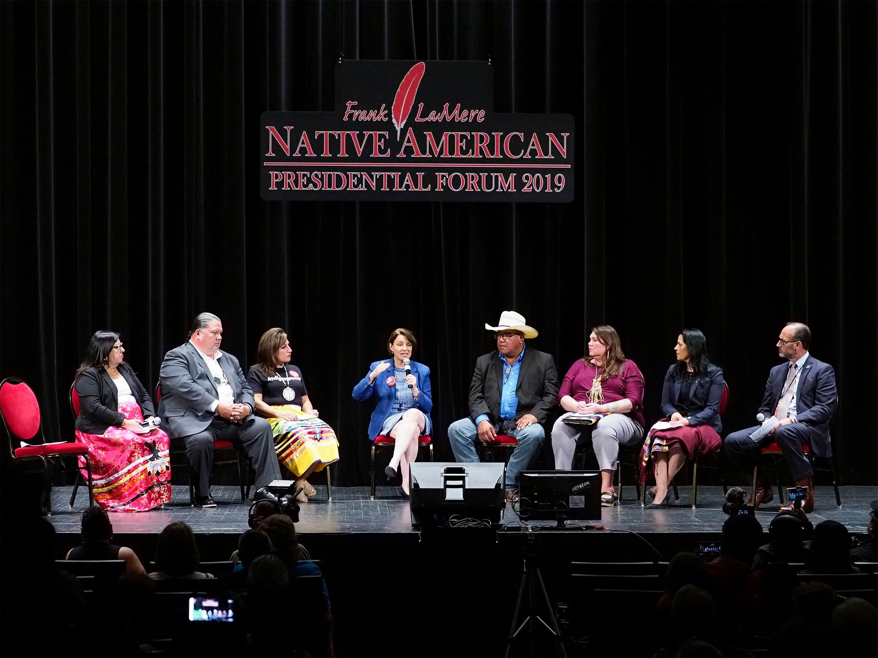 AUDIO/VIDEO: Amy Klobuchar at Frank LaMere Native American Presidential Forum
