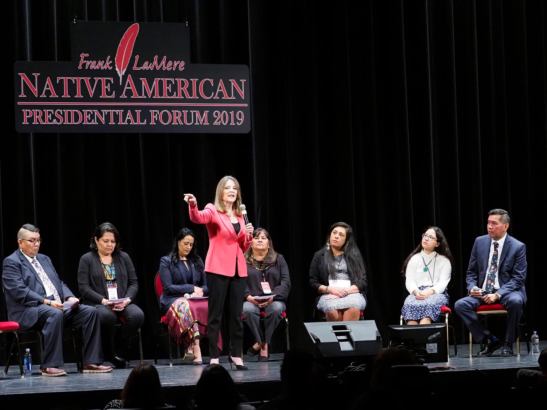 AUDIO/VIDEO: Marianne Williamson at Frank LaMere Native American Presidential Forum