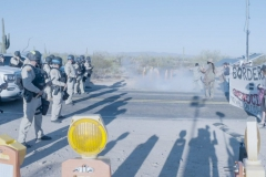 Border Patrol and Arizona State Police Violently Attacked Peaceful, Non-Violent Indigenous Land Protection Ceremony With Rubber Bullets and Tear Gas On Indigenous Peoples' Day