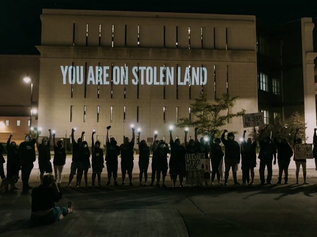 'You Are On Stolen Land'