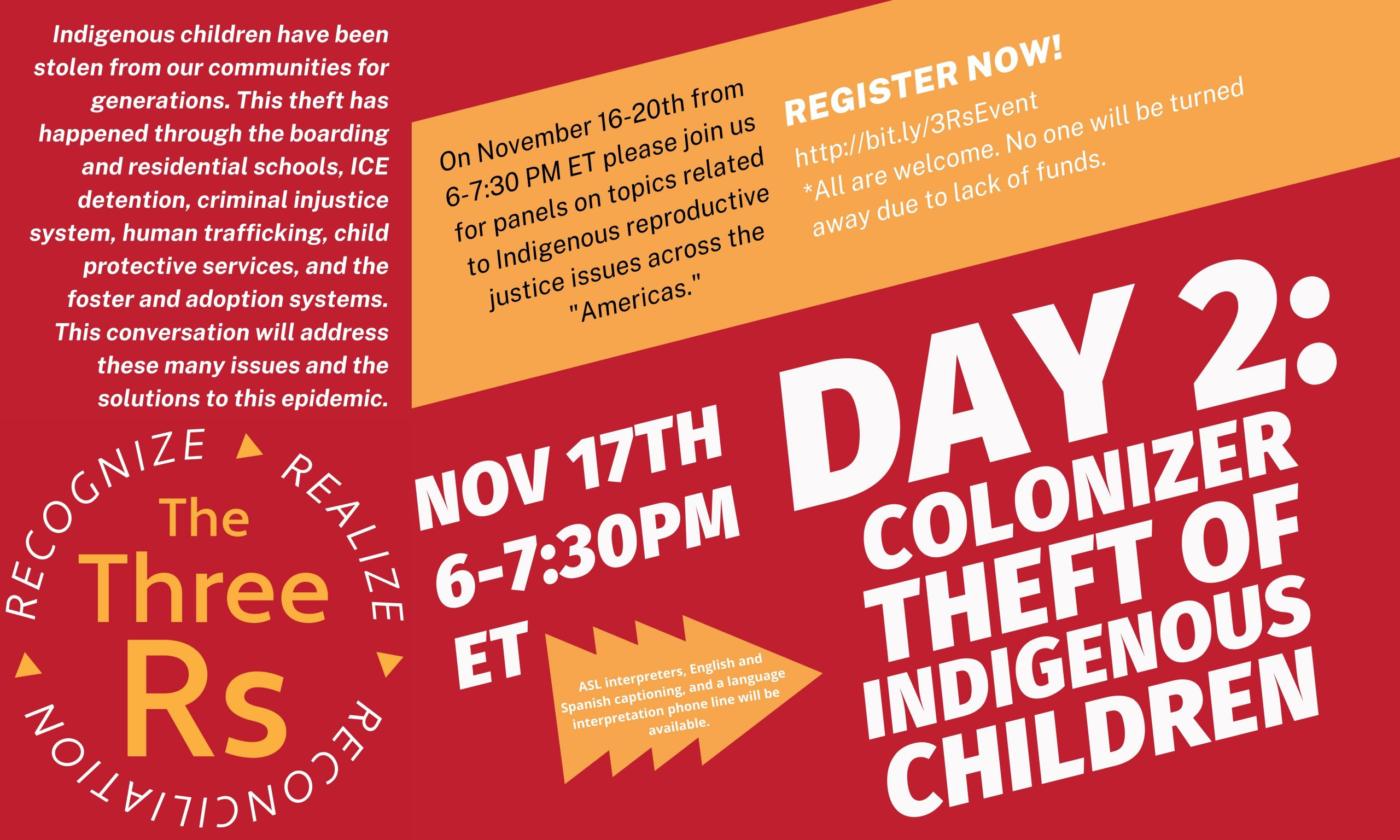colonizer theft of indigenous children #3Rs