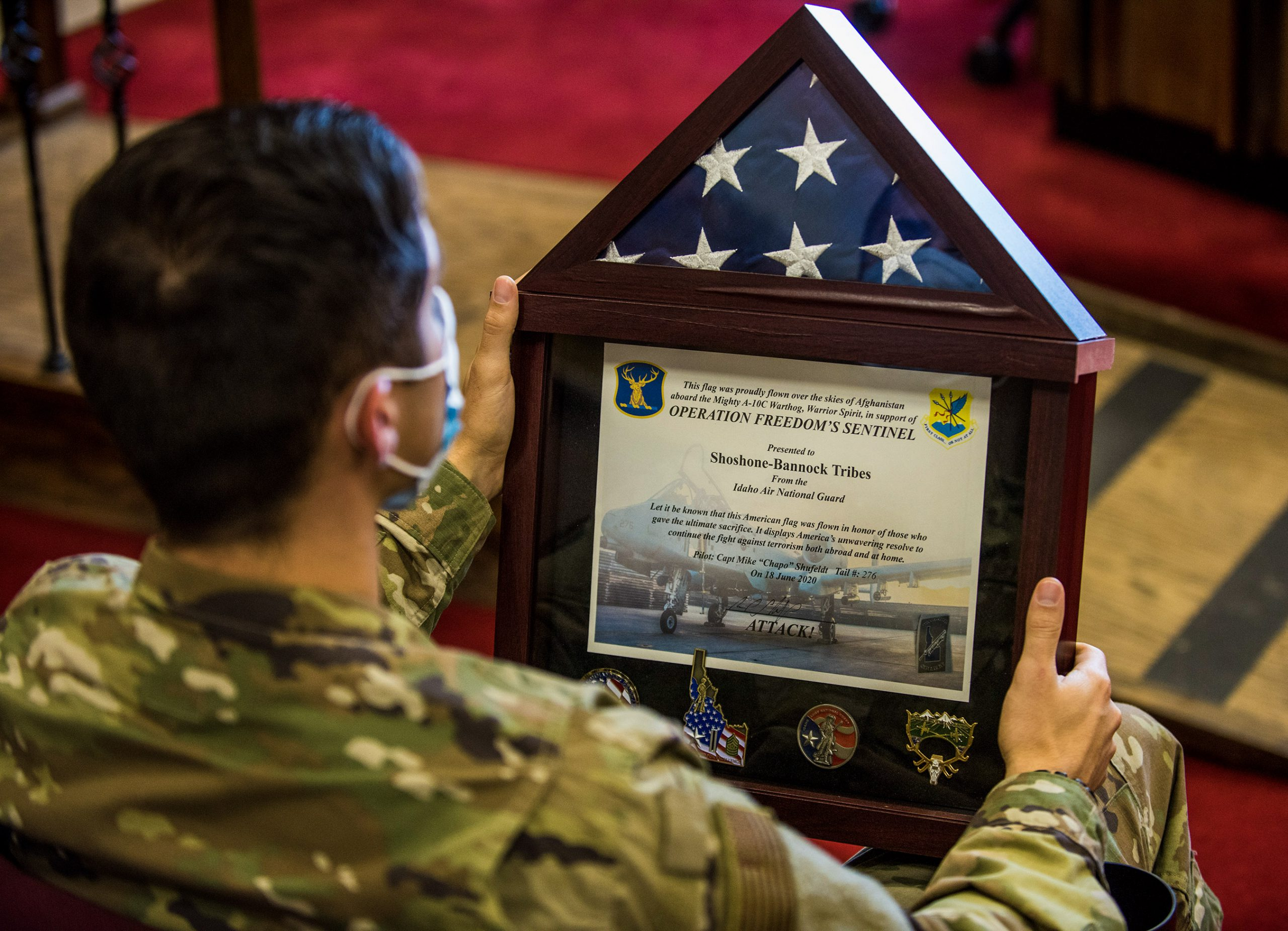 U.S. flag flown over Afghanistan dedicated to Shoshone-Bannock Tribes