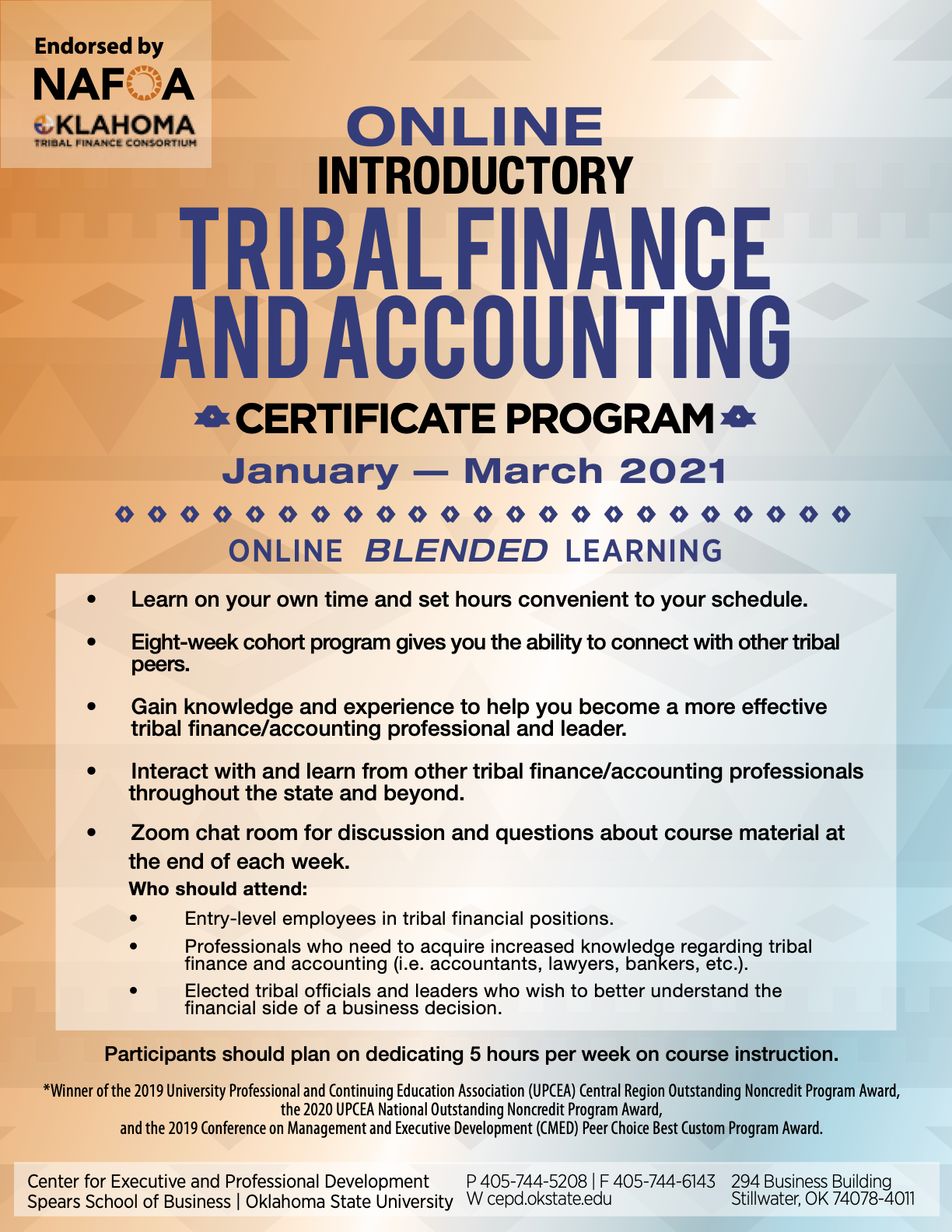 Online Introductory Tribal Finance and Accounting Certificate Program Agenda - Click for More