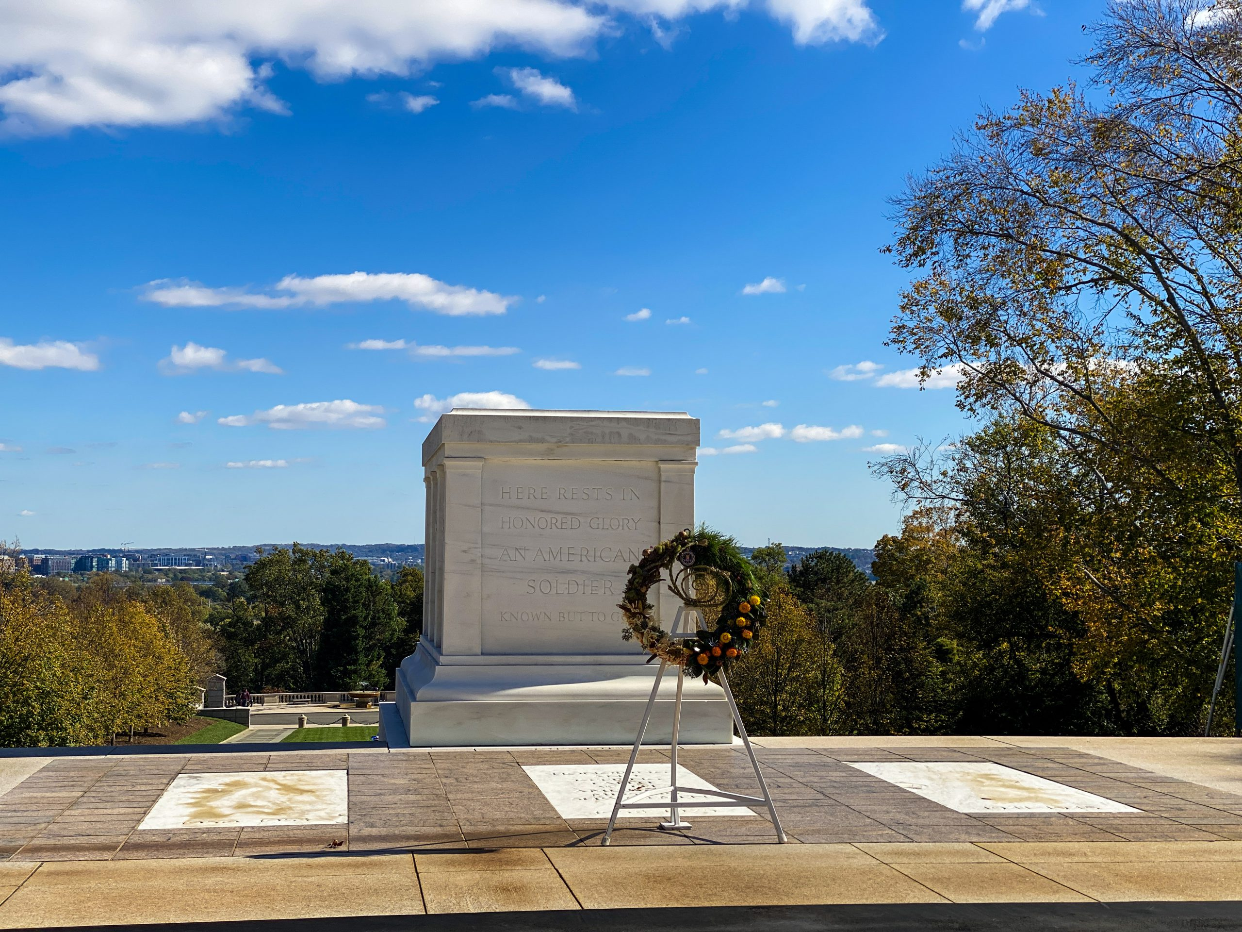 tomb of the unknown soldier wreath by shayai lucero