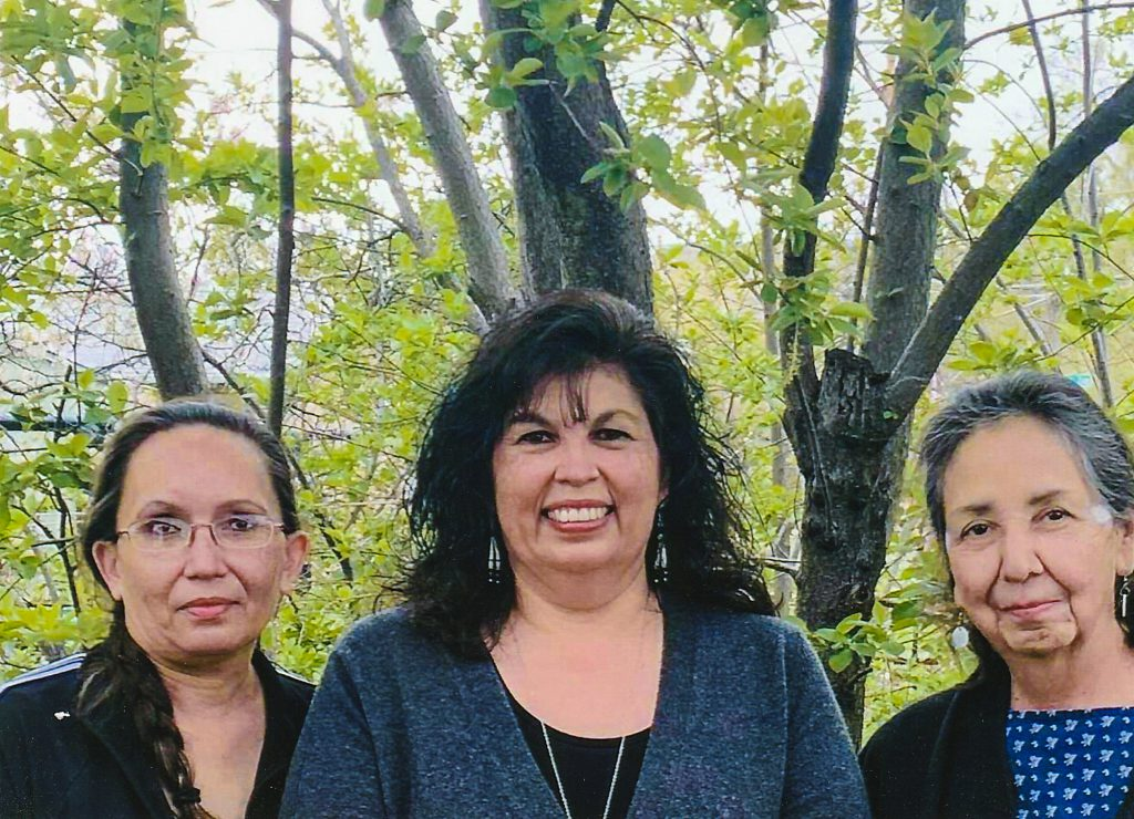 Donna Gilbert, Julie Mohney and Charmaine White Face