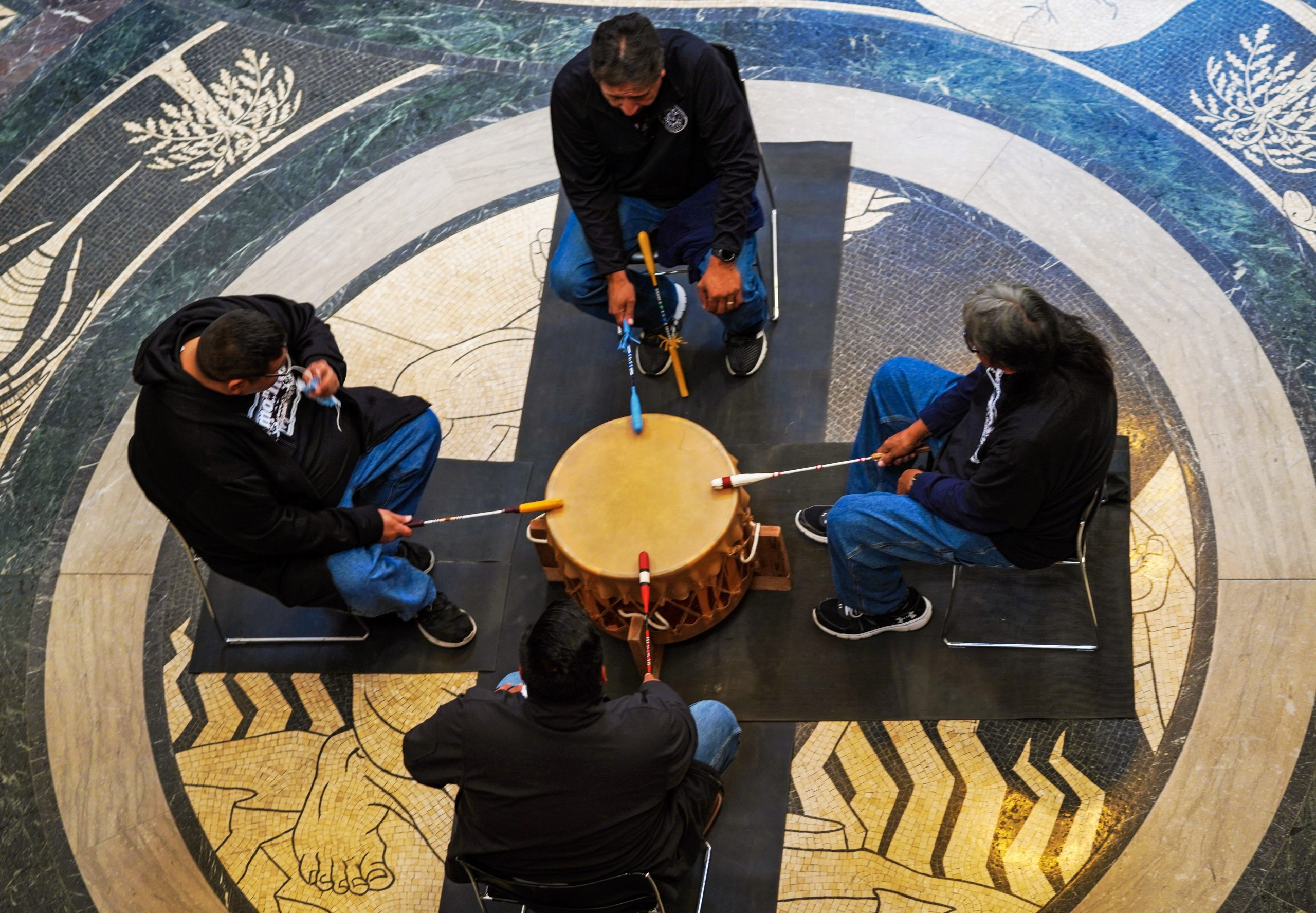 Indigenous Peoples Day Drummers