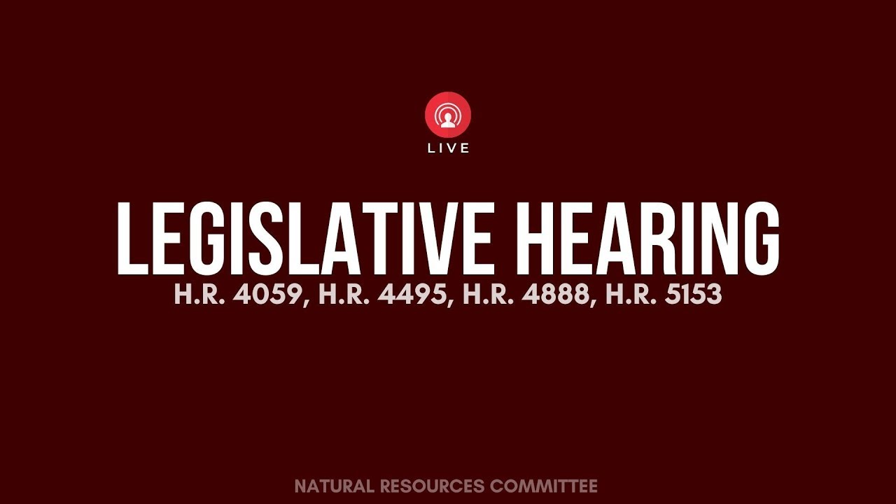 Witness list for House Subcommittee for Indigenous Peoples legislative hearing