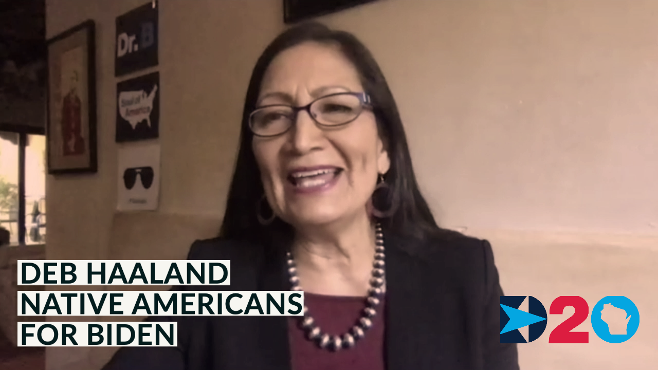 Rep. Deb Haaland | Native Americans for Biden | Democratic National Convention