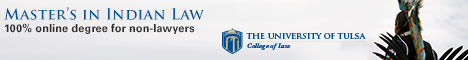 Indian Law Online Master Degree - University of Tulsa College of Law
