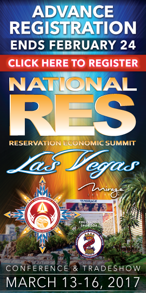 National RES Reservation Economic Summit March 13-16, 2017, Las Vegas, Nevada
