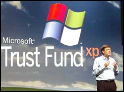 Microsoft Chairman Bill Gates at Microsoft headquarters, Redmond, Washington. November 11, 2001.