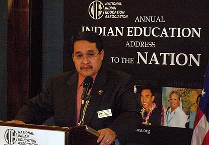 Dr. Willard Sakiestewa Gilbert, President of the National Indian Education Association