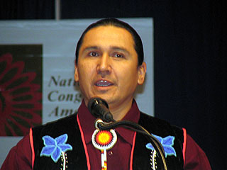 """Floyd """"Buck"""" Jourdain Jr., the chairman of the Red Lake Nation in"""